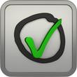 Icon: 3D Haken im Kreis - Checkmark