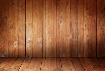 Holzwand und Holzboden