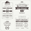 Set of adult birthday invitation vintage typographic design - 48834269
