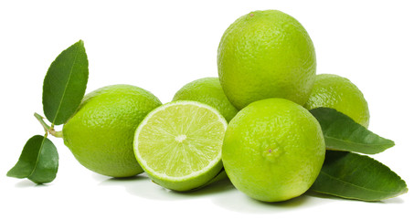 Limes with leaves