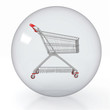 crystal ball with shopping cart inside