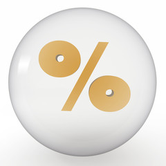 crystal ball with sign of percent inside