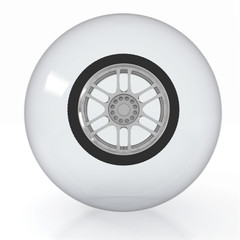 crystal ball with wheel inside