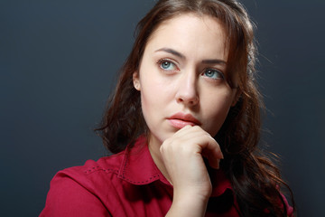 woman looking sad