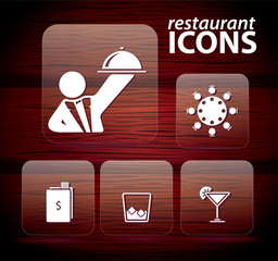 Set of restaurant icons, No 3