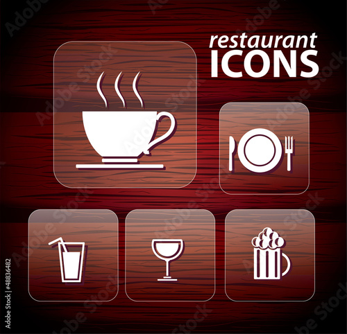 Set of restaurant icons, No 2