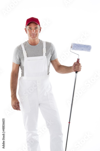 House painter in overalls