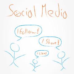 Social Media Konzept / Virales Marketing