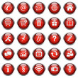 25 Basic Vektor Icons // Homepage Buttons - Red (01)