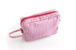 Gingham make-up bag