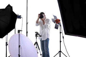Photographer in studio