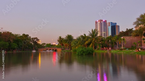 Chatuchak park in the evening