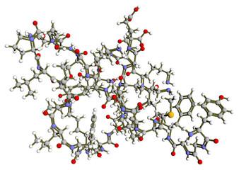 Beta-endorphin molecular structure