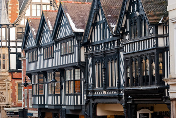 Chester, England, black and white building