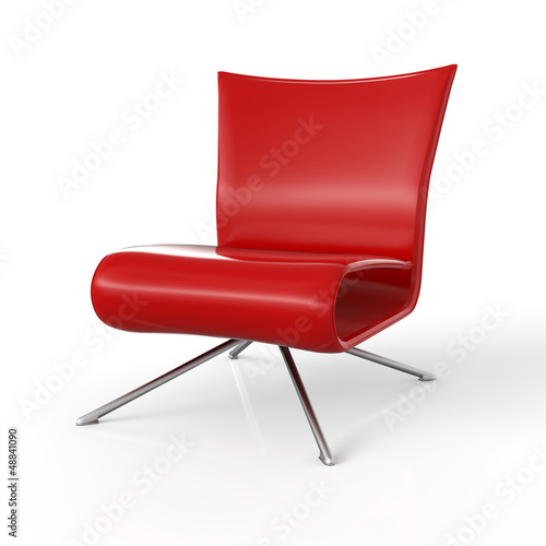 Moderner Sessel isoliert - Rot