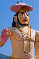 Hanuman statue in Rishikesh, India