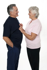 Mature Couple on White Background