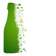Sekt Flasche Wiese Bio
