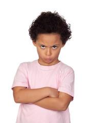 Angry latin child