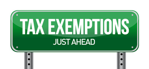 Tax exemptions sign