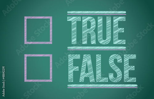true or false with checkboxes