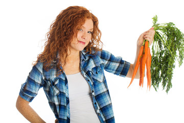 red head carrot holder