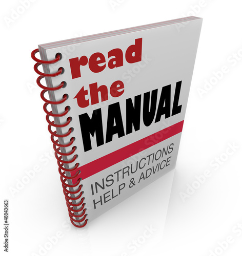 Read the Manual Book Instructions Help Advice