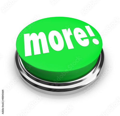 More Word Round Green Button Extra Bonus Value
