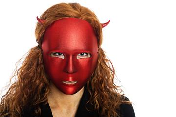 scary devil woman