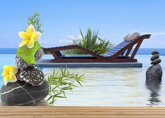piscine zen à débordement