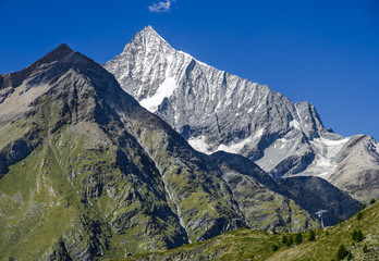 High mountain landscape in Pennine Alps, Switzerland