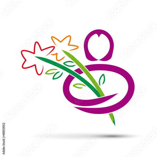 Vector logo give flowers