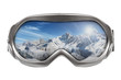 ski goggles with reflection of mountains isolated on white - 48850247