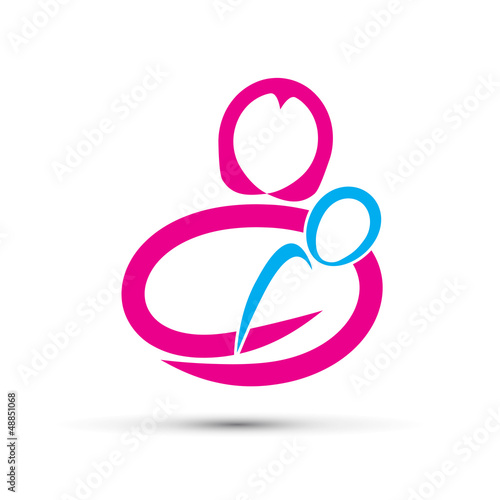 Logo mother's love # Vector