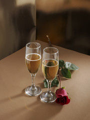 Bodegón celebración de San Valentín.