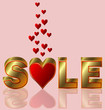 Valentines day sale, vector illustration