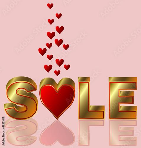 Valentines day sale, vector illustration