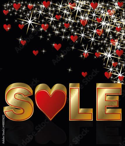 Valentines day sale card, vector illustration