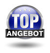 top angebot button blau