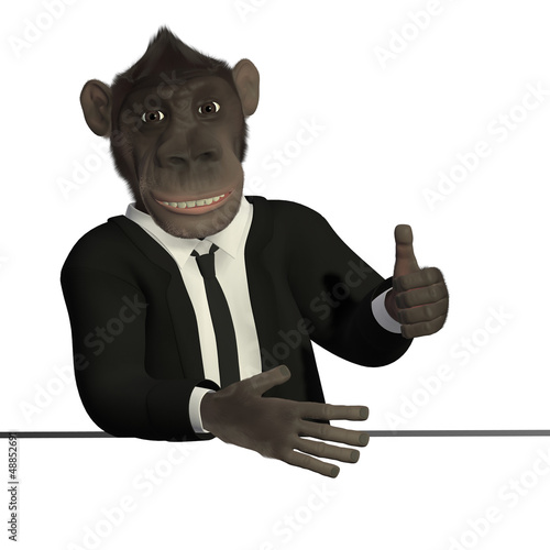 Mr.Monkey - thumb up
