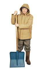 Man with a big spade
