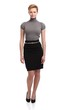 Pretty businesswoman in mini skirt