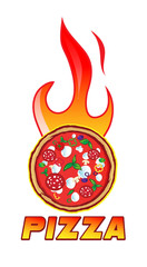 hot pizza