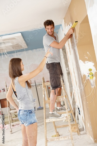 Young couple DIY