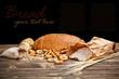 Still life of sliced bread