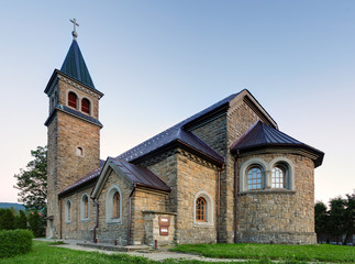 Nice Catholic Church in eastern Europe - village Babin - Orava -