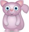 kleine rosa Katze