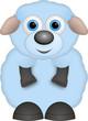 kleines blaues Schaf