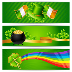 Banners for Saint Patrick's day.