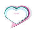 Heart shape, Speech Bubble vector